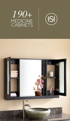 Keep toiletries nearby in a sleek medicine cabinet. These stylish options coordinate with existing decor and can be installed on — or even inside — your wall.