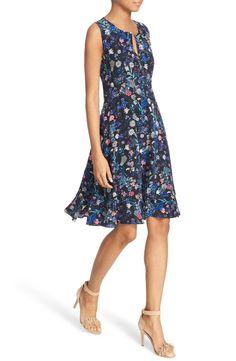 Rebecca Taylor 'Alice' Floral Print Silk Dress