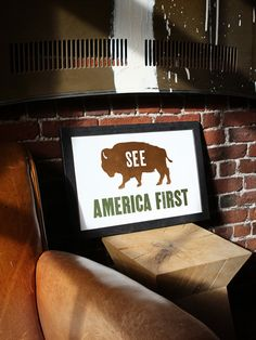 "Old Try ""See America First"" print, $40 (Made in Somerville, Massachusetts) #madeinusa #madeinamerica"