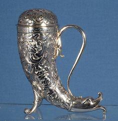 Very rare Victorian sterling silver - ritsinus.Birmingem. Constructed in 1887, Cornelius Saunders & Frank.