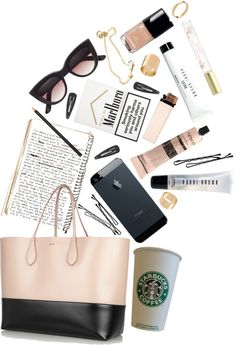 IDEA: Could potentially color coordinate products to color of bag! What's In My Purse, Whats In Your Purse, What In My Bag, What's In Your Bag, What's In My Backpack, Inside My Bag, Backpack Essentials, Bag Pins, Travel Bags For Women