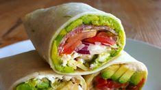 3 Healthy Tortilla Wrap Recipes   Easy No Cook Meals - YouTube Mexican Food Recipes, Vegetarian Recipes, Healthy Recipes, Healthy Meals, Healthy Food, Ethnic Recipes, Healthy Sandwiches, Wrap Sandwiches, Quick Meals