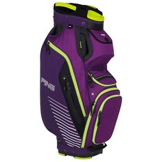 Built With A Mesh Covered Reinforced Top These Mens 2017 Pioneer Golf Cart Bags By Ping Feature Two Velour Lined Valuables Pockets And An Integrated Trunk