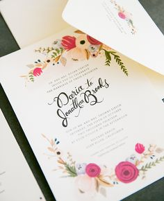 Vineyard-inspired Wedding Invitations | Larissa Cleveland Photography | blog.theknot.com