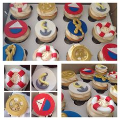 More Nautical Cupcakes
