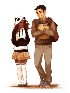 I feel like Hazel got that hoodie because Frank reminds her of a panda...--he does <3 <<<<< this is so cutee!