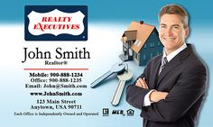 Gradient realty executives business card template design realty realty executives realtor business cards with a house on the background from printifycards colourmoves