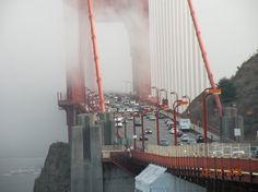 San Francisco. Traffic on the bridge. Been there