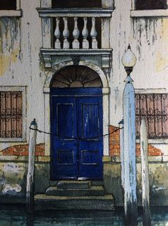 Blue Venetian Door ~ John Edwards