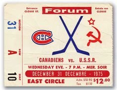 Actually, it's Canadiens vs Central Red Army, one of the greatest games ever played - tie. Montreal Canadiens, Mtl Canadiens, Hockey Games, Hockey Players, Ice Hockey, Army Hockey, Hockey Logos, Hockey Mom, Baseball