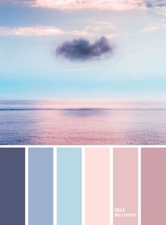 peinture salon tendance Blue and Mauve color palette inspired by sky color ,evening sky color palette Blue and Mauve color palette inspi Color Schemes Colour Palettes, Pastel Colour Palette, Blue Colour Palette, Mauve Color, Pastel Colors, Color Blue, Colours, Sky Colour, Color Schemes Design