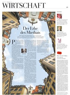 - German newspaper - very good use of perspective and the combination with the shape of the country Newspaper Design Layout, Page Layout Design, Graphic Design Layouts, Brochure Design, Graphic Design Inspiration, Brochure Layout, Corporate Brochure, Brochure Template, Web Design Trends
