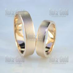 Плоские обручальные кольца классические с матовой поверхностью (Вес пары   12 гр.) 8a6904fb27b