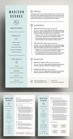 Resume & Cover Letter Template ---CLICK IMAGE FOR MORE--- resume how to write a resume resume tips resume examples for student Resume Cover Letter Template, Modern Resume Template, Resume Template Free, Creative Resume Templates, Letter Templates, Business Letter Template, Templates Free, Cv Website, Cover Letter Design