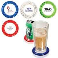 [PL-4076]  	Beverage Chiller Pad    PVC beverage pad with freezable liquid ring Keeps beverages cool Place on top of traditional coaster or cocktail napkin Glittery stars inside the liquid    Product code: PL-4076  Qty:	150-299	300-599	600-1199	1200-4999	5000+  ea.	$2.25	$1.95	$1.75	$1.49