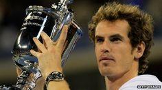 Andy Murray winner of 2012 US Open, wearing his Rado watch!