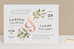 Floral Ampersand by Jennifer Wick at minted.com