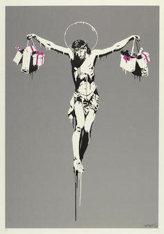 Christ shopping, Banksy street art?