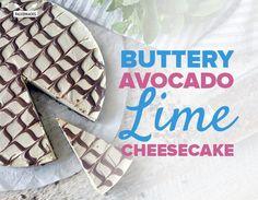 Buttery Avocado Lime Cheesecake