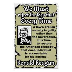 Each American is individually accountable (Reagan).