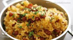 Este plato es muy facil de preparar. Ojo, tienes que preparar las habichuelas guisadas con anterioridad.  Ingredientes  2 tazas de arroz grano corto (Coc