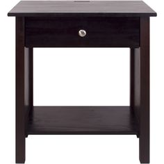 USA Vanderbilt Nightstand End Table with 4 USB Ports ($89) ❤ liked on Polyvore featuring home, furniture, tables, accent tables, storage shelves, phone table, drawer furniture, storage furniture and storage shelf
