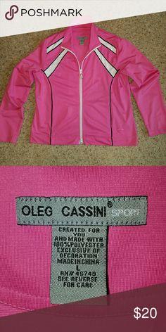 Oleg Cassini Sport Jacket Size L...100% polyester...Very good condition Oleg Cassini Jackets & Coats
