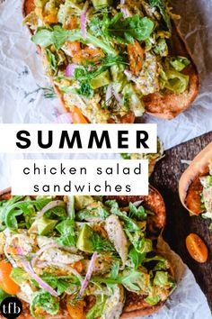 This chicken salad sandwich is stuffed full of the season's best garden vegetables, fresh herbs, and an easy, light poppy seed dressing, tossed with cheddar cheese and piled onto a hoagie roll for easy and delicious devouring. Chicken Salad Ingredients, Sandwich Ingredients, Easy Summer Meals, Summer Recipes, Salad Sandwich, Sandwich Recipes, Summer Chicken, Leftover Rotisserie Chicken, Fast Dinner Recipes