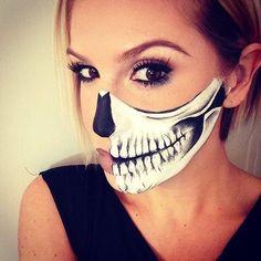 Skeleton Makeup Look for Women