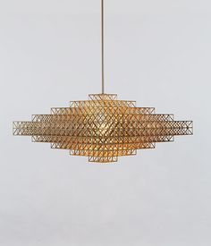 Gridlock suspension light by Philippe Malouin at Roll & Hill Interior Lighting, Modern Lighting, Lighting Design, Pendant Lamp, Pendant Lighting, Brass Lamp, Ceiling Lamp, Ceiling Lights, Blitz Design