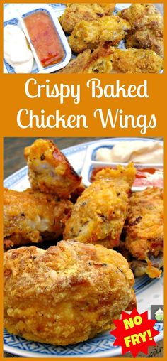 No frying! Cheeky Crispy Baked Wings. I also made this using pork ribs cut small and oh boy! They were delish. Add a couple of your favorite dipping sauces and dig in! Easy to do and very very tasty! (you will need to make lots!) #baked #chicken #easyrecipe