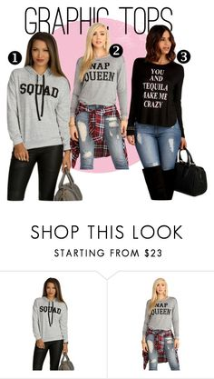 """Graphic Tops"" by windsorstore on Polyvore featuring Graphic, graphictee and screentees"