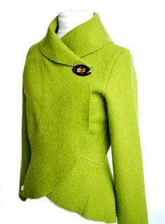 Women boiled wool Jacket size XsL weddig by RosenrotMode on Etsy