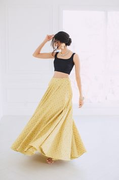 indian designer wear Sunshine Yellow Lehenga Skirt Price: INR Buy from Poppy Lane Toronto DESCRIPTION Yellow neon tone brocade silk skirt with pockets. Hidden side hooks and Dress Indian Style, Indian Dresses, Indian Attire, Indian Ethnic Wear, Indian Wedding Outfits, Indian Outfits, Yellow Lehenga, Black Lehenga, Lehenga Skirt