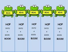 Frog Themed Bookmarks