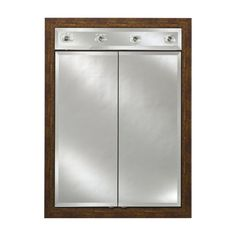 Afina Signature Contemporary Lighted Double Door 21W x 40H in. Surface Mount Medicine Cabinet - AFC276