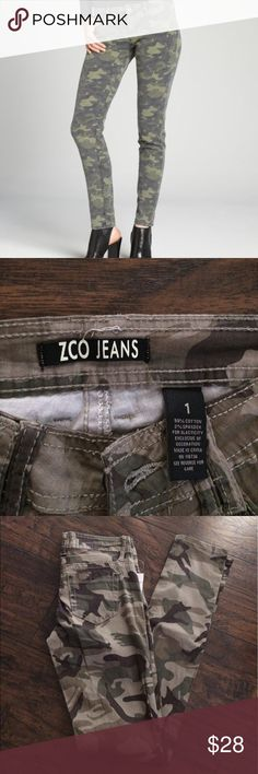 ZCO JEANS CAMO Brand new I paid $45 for them. They are size 1 Jeans Skinny