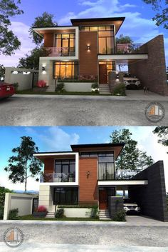 Elegant House Designs Spectacular Two-storey House Design with Impressive Interior How Old Should Yo Zen House Design, 3 Storey House Design, Two Storey House, Bungalow House Design, House Front Design, Modern Zen House, Modern House Facades, House Architecture Styles, Model House Plan