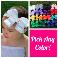 Baby Headband Set 5 Bow Headbands Baby by RoyalSistersBoutique