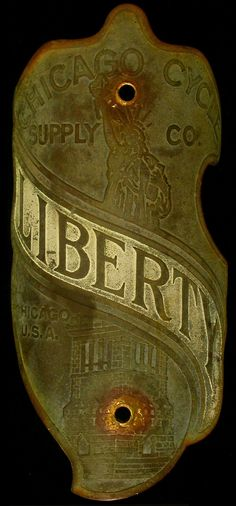 Bicycle Head Badge - Liberty Chicago  http://www.flickr.com/photos/66534653@N02/7756316298/sizes/l/in/pool-71863526@N00/