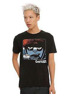 Gorillaz Murdoc Close-Up T-Shirt, BLACK
