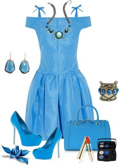 """Beautiful Blue"" by sherryvl on Polyvore"