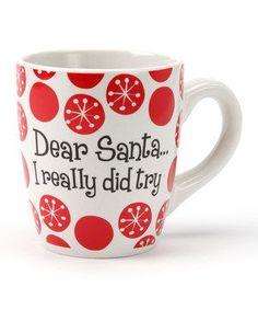 Image result for dei/ dear santa i really did try mug