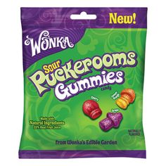 Click Image Above To Purchase: Sour Puckerooms Gummies Peg Bag: 12 Count Candy Recipes, Gourmet Recipes, Snack Recipes, Candy Gift Baskets, Candy Gifts, Candy Videos, Peg Bag, Candy Brands, Candy Molds