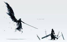 Final Fantasy VII Sephiroth artwork - Wallpaper (#643060) / Wallbase.cc