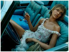 2003 'Roadhouse Blues' with Rianne ten Haken by Steven Meisel