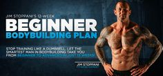 """Stop training like an idiot! """"Dumbbell"""" should describe your weights, not you. Jim Stoppanis 12-Week Beginner-To-Advanced Bodybuilding Plan."""