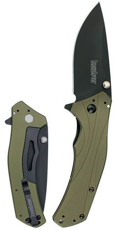 OWNED. Kershaw Knockout, OD green. A great, light-weight EDC knife. I really like the deep pocket carry clip.