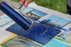 DIY-Druckwerkstatt Linoldruck II bei den Buchkindern des Krokoseums