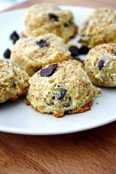 High Protein Coconut Cookies- Gluten Free recipe with coconut. Made these with chocolate chips. Dana said that they would taste like Almond ...